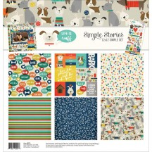 """Simple Stories Life Is Ruff 12""""x12"""" Simple Sets Collection Kit 9276"""