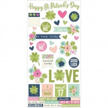 """Simple Stories Simple Sets St Patrick's Day 6""""x12"""" Fundamentals Element Cardstock Stickers 9440"""