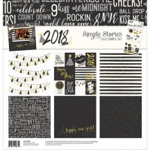 """Simple Stories 2018 12""""x12"""" Simple Sets Collection Kit 9444"""