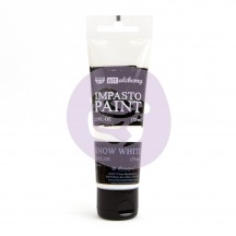 Prima Finnabair Art Alchemy Impasto Snow White Heavy Body Acrylic Paint 75ml 964511