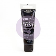 Prima Finnabair Art Alchemy Impasto Pitch Black Heavy Body Acrylic Paint 75ml 964528