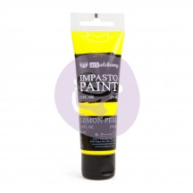 Prima Finnabair Art Alchemy Impasto Lemon Peel Yellow Heavy Body Acrylic Paint 75ml 964535