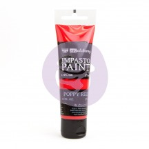 Prima Finnabair Art Alchemy Impasto Poppy Red Heavy Body Acrylic Paint 75ml 964559