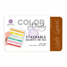 Prima Color Philosophy Adobe House Brown Stackable Magnetic Dye Ink Pad 589400