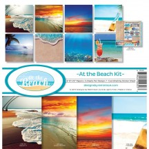 "Reminisce At The Beach 12""x12"" Paper Crafting Kit ATB-200"
