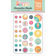 Echo Park Summer Dreams Decorative Brads & Chipboard Pieces DR126020