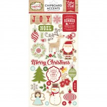 Echo Park I Love Christmas Self Adhesive Chipboard Shape Stickers LC114022