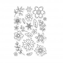 """Hero Arts Flowers For Coloring 4""""x6"""" Clear Stamp Set CM256"""