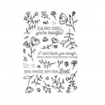 """Hero Arts You're Beautiful 4""""x6"""" Clear Stamp Set CM258"""