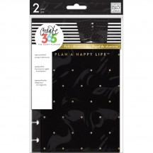 Me & My Big Ideas Create 365 MINI Happy Planner Snap-In Cover Black/Gold Dot COLM-03