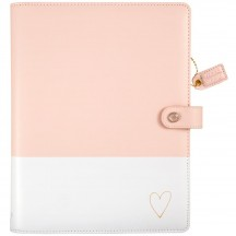 Webster's Pages Blush & Gold Heart A5 Faux Leather Composition Planner CP001BH