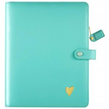 Webster's Pages Light Teal A5 Faux Leather Composition Planner  CP001LT