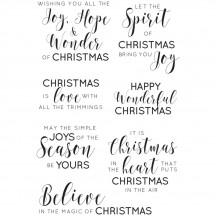 Kaisercraft Traditional Sentiments Clear Stamp Set CS313