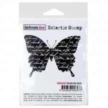 Darkroom Door Butterfly Note Eclectic Cling Rubber Stamp DDES043