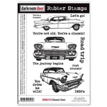 Darkroom Door Classic Cars Cling Foam Mounted Rubber Stamps - DDRS173