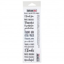 Darkroom Door Thank You Rubber Sentiment Stamp with cling foam DDSE002