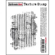 Darkroom Door Corrugated Iron Cling Mounted Rubber Texture Stamp - DDTS026