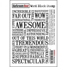 Darkroom Door Rubber Word Block Stamp - Awesome DDWB012
