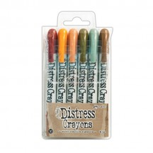 Ranger Tim Holtz Distress Crayons 6 pack - Set 10 TDBK51800