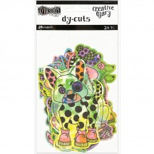 Ranger Dylusions Creative Dyary Dy Cuts Coloured Animals by Dyan Reaveley DYE58649