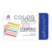 Prima Color Philosophy Electric Purple Stackable Magnetic Dye Ink Pad 589509