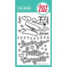"""Avery Elle Fly Be 4""""x6"""" Clear Stamp Set"""