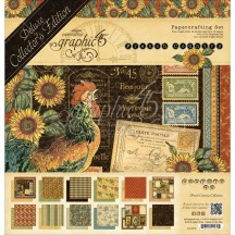 Graphic 45 Papercrafting French Country Deluxe Collectors Edition Pack 4501579