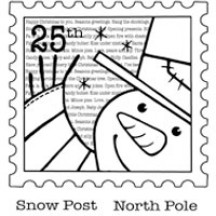 Woodware Snow Post Clear Magic Christmas Stamp Set FRS025