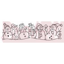 Woodware Snowman Family Clear Magic Christmas Stamp Set FRS340