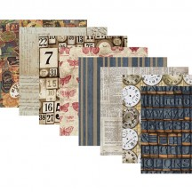 "Tim Holtz Eclectic Elements Labels 12""X12"" Fabric Crafting Pack FB612TH.LABEL"