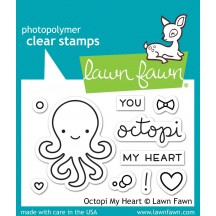 Lawn Fawn Octopi My Heart Clear Stamps LF1295