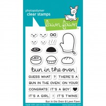 """Lawn Fawn Bun In Oven 3""""x4"""" Clear Stamps LF1317"""