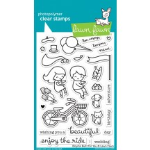 """Lawn Fawn Bicycle Built For You 4""""x6"""" Clear Stamps LF1323"""