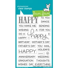 """Lawn Fawn Happy Happy Happy 4""""x6"""" Clear Stamps LF1334"""