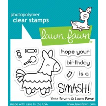 Lawn Fawn Year Seven Birthday Pinata Clear Stamps LF1338