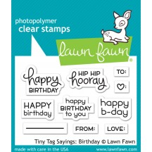 Lawn Fawn Tiny Tag Sayings: Birthday Clear Stamps LF1421