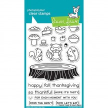 """Lawn Fawn Forest Feast 4""""x6"""" Clear Stamps LF1464"""