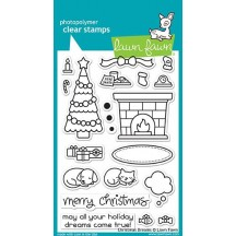 """Lawn Fawn Christmas Dreams 4""""x6"""" Clear Stamps LF1466"""