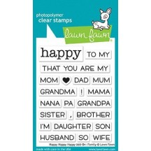 """Lawn Fawn Happy Happy Happy Add-on: Family 3""""x4"""" Clear Stamps LF1585"""