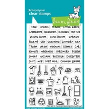 """Lawn Fawn Plan On It: Spring Cleaning 4""""x6"""" Clear Stamps LF1607"""