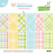 """Lawn Fawn Perfectly Plaid Spring 12""""x12"""" Collection Pack LF1640"""