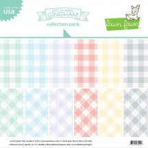 """Lawn Fawn Gotta Have Gingham 12""""x12"""" Collection Pack LF1648"""