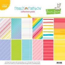 """Lawn Fawn Really Rainbow 12""""x12"""" Collection Pack LF1656"""