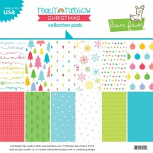 """Lawn Fawn Really Rainbow Christmas 12""""x12"""" Collection Pack LF1741"""