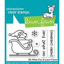 Lawn Fawn Oh What Fun Clear Christmas Stamps LF1766