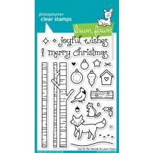 """Lawn Fawn Joy To The Woods 4""""x6"""" Clear Christmas Stamps LF706"""