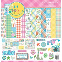 "Photoplay Paper Mad 4 Plaid Happy 12""x12"" Collection Pack MPH8853"