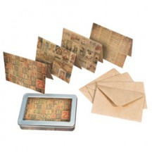 Tim Holtz District Market Notecards - Merriment