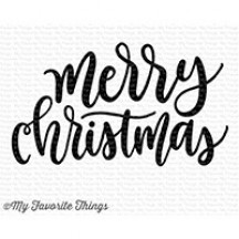 My Favorite Things Merry Christmas Greeting Sentiments Clear Stamp Set CS-241