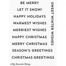My Favorite Things Snow Globe Sentiments Clear Christmas Stamp Set CS-243
